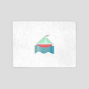 Sailboat 5'x7'Area Rug