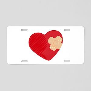 Heart Bandage Aluminum License Plate