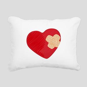 Heart Bandage Rectangular Canvas Pillow