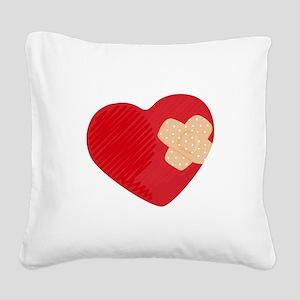 Heart Bandage Square Canvas Pillow