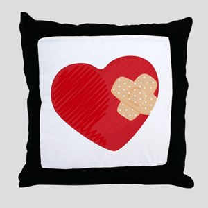 Heart Bandage Throw Pillow