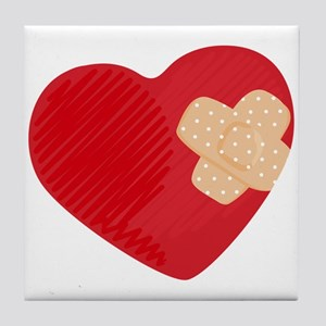 Heart Bandage Tile Coaster