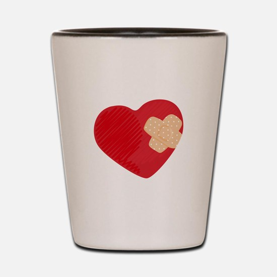 Heart Bandage Shot Glass