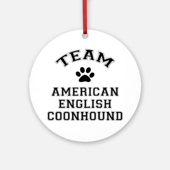 Team Coonhound Ornament (Round)