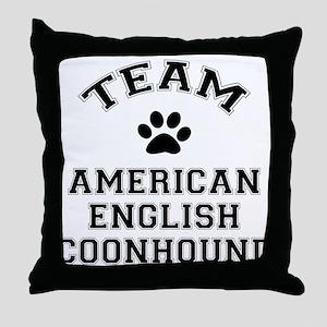Team Coonhound Throw Pillow
