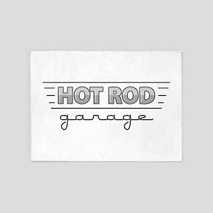 Hot Rod Garage 5'x7'Area Rug