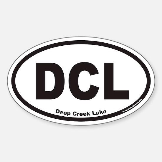 Deep Creek Lake DCL Euro Oval Decal
