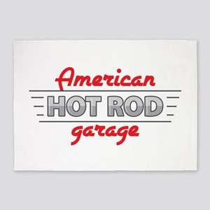 American Hot Rod Garage 5'x7'Area Rug