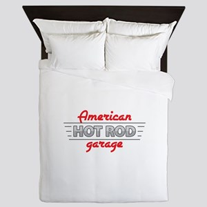 American Hot Rod Garage Queen Duvet