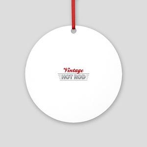 Vintage Hot Rod Ornament (Round)