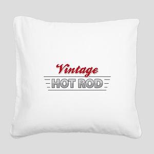 Vintage Hot Rod Square Canvas Pillow