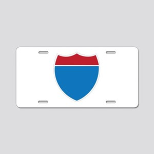 Interstate Sign Aluminum License Plate