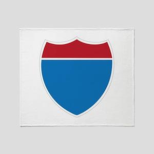 Interstate Sign Throw Blanket