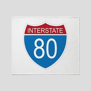 Interstate 80 Throw Blanket