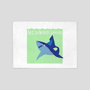 Misunderstood Shark 5'x7'Area Rug