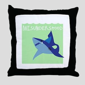 Misunderstood Shark Throw Pillow