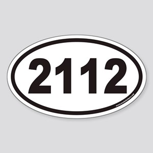 2112 Euro Oval Sticker