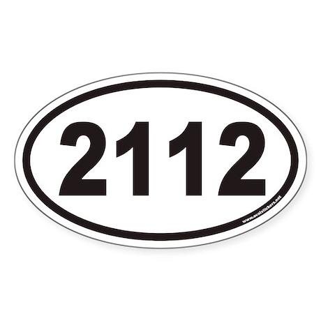 2112 Euro Oval Sticker
