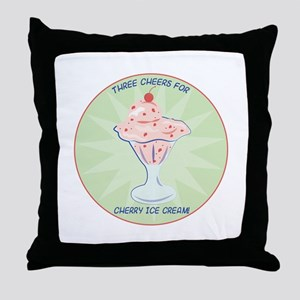 Cheers For Ice Crean Throw Pillow