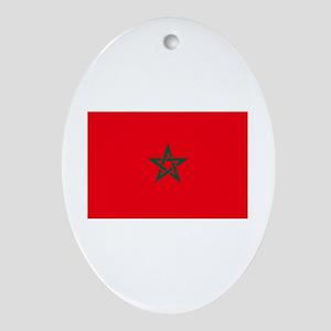 morocco flag Oval Ornament