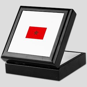 morocco flag Keepsake Box