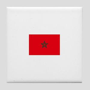morocco flag Tile Coaster