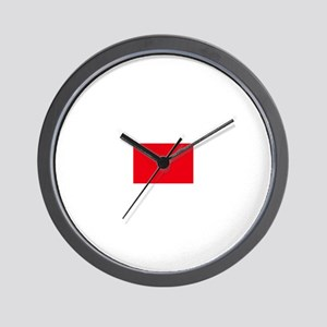 morocco flag Wall Clock