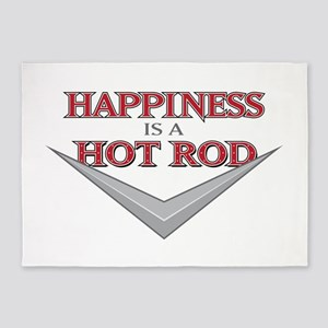 Happiness Is A Hot Rod 5'x7'Area Rug