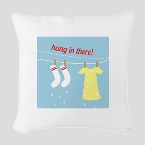 Hang In There Woven Throw Pillow