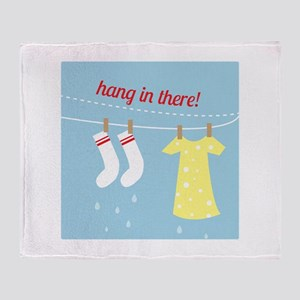 Hang In There Throw Blanket