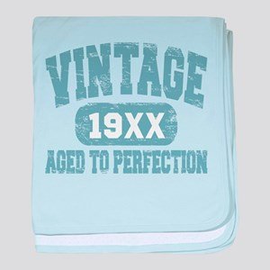 Personalize Vintage Aged To Perfection baby blanke