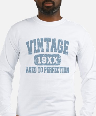 Personalize Vintage Aged To Perfection Long Sleeve
