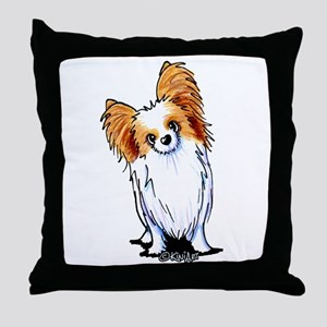 Red Sable Papillon Throw Pillow