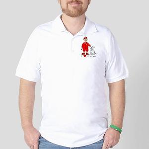 I Heart Firemen Golf Shirt