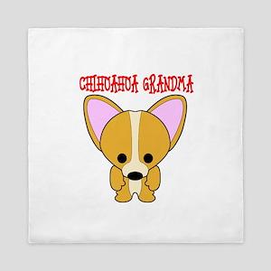 Chihuahua Dog Grandma Queen Duvet