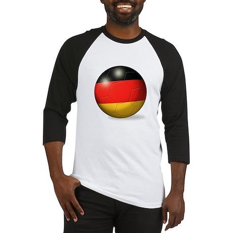 German Flag Soccer Ball Baseball Jersey