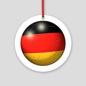 German Flag Soccer Ball Ornament (Round)