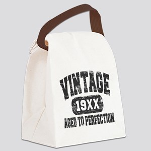 Personalize Vintage Aged To Perfection Canvas Lunc