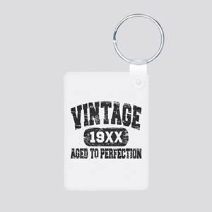Personalize Vintage Aged To Perfection Keychains