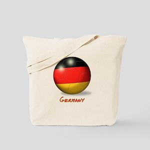 Germany Flag Soccer Ball Tote Bag