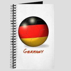 Germany Flag Soccer Ball Journal