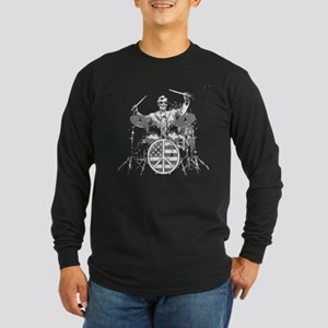 abraham lincoln playing drums Long Sleeve T-Shirt