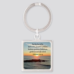 GALATIANS 5:22 Square Keychain