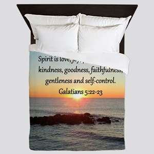 GALATIANS 5:22 Queen Duvet