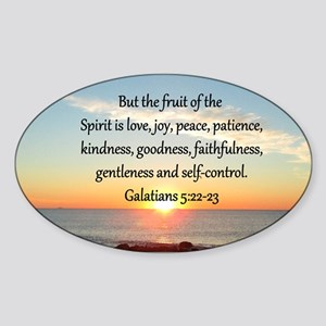 GALATIANS 5:22 Sticker (Oval)