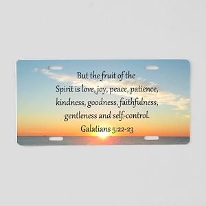 GALATIANS 5:22 Aluminum License Plate