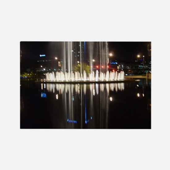 """Fountain Reflection"" Rectangle Magnet"