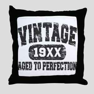 Personalize Vintage Aged To Perfection Throw Pillo