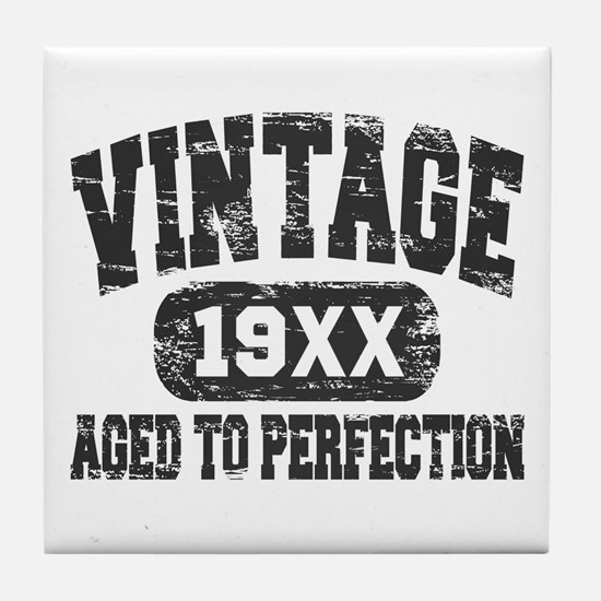 Personalize Vintage Aged To Perfection Tile Coaste