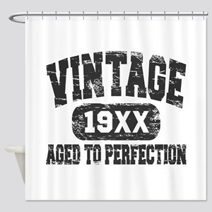 Personalize Vintage Aged To Perfection Shower Curt